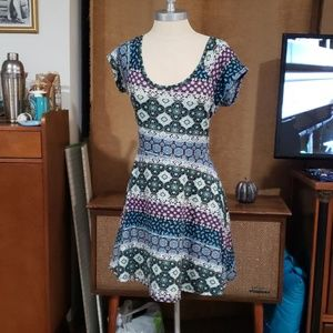 Dress with back cut out